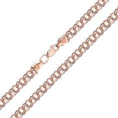 Браслет из красного золота Деннис в плетении бисмарк 000128019 19 размера от Zlato