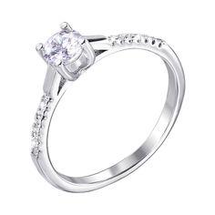 Серебряное кольцо с фианитами 000125216 000125216 17 размера от Zlato