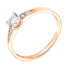 Золотое кольцо Мюриэл в красном цвете с кристаллами Swarovski 000122271 17 размера от Zlato