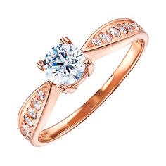 Кольцо из красного золота с цирконием Swarovski 000126311 000126311 18 размера от Zlato
