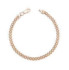 Золотой браслет Лила в плетении двойной якорь 000122748 18 размера от Zlato