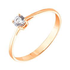 Золотое кольцо с цирконием Swarovski 000053305 000053305 16.5 размера от Zlato