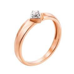 Кольцо в красном золоте Лолита с бриллиантом 000124583 17.5 размера от Zlato