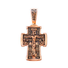 Православный крестик из красного золота с чернением 000132166 000132166 от Zlato