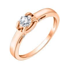 Кольцо из красного золота с фианитами 000113471 000113471 18 размера от Zlato