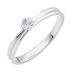Кольцо из белого золота с бриллиантом 000123672 000123672 16 размера от Zlato