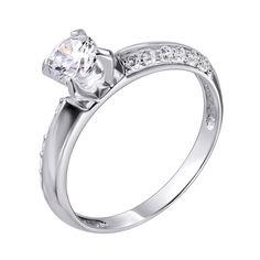 Кольцо в белом золоте Мелли с фианитами 000122172 15.5 размера от Zlato