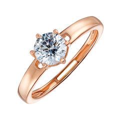 Кольцо из красного золота с кристаллом Swarovski 000134717 000134717 19 размера от Zlato
