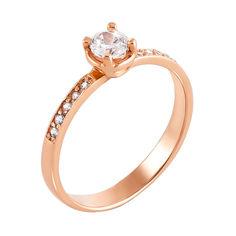 Кольцо из красного золота с фианитами 000123214 000123214 17 размера от Zlato