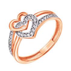 Золотое кольцо в комбинированном цвете с фианитами 000127985 000127985 16 размера от Zlato