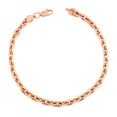 Золотой браслет Андрэ в красном цвете якорного плетения 000129578 20.5 размера от Zlato