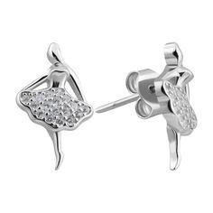 Серебряные серьги с фианитами 000132452 000132452 от Zlato