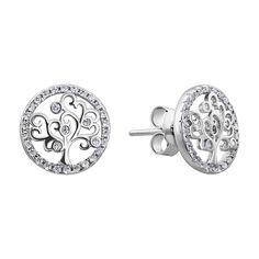 Серебряные серьги Древо жизни с фианитами 000132641 000132641 от Zlato