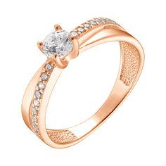 Кольцо в красном золоте с фианитами 000078603 000078603 17.5 размера от Zlato