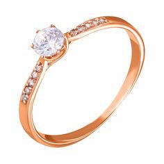 Золотое кольцо в красном цвете с фианитами 000047681 000047681 17.5 размера от Zlato