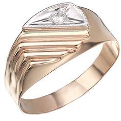 Золотое кольцо с цирконием 000046698 000046698 20 размера от Zlato