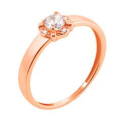 Кольцо из золота  с фианитом 000011468 000011468 16 размера от Zlato