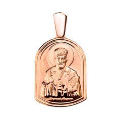 Ладанка Святой защитник в красном золоте 000046158 от Zlato