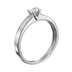 Кольцо из белого золота с бриллиантом 000138791 000138791 18 размера от Zlato