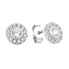Серебряные серьги-пуссеты с фианитами  000106907 000106907 от Zlato