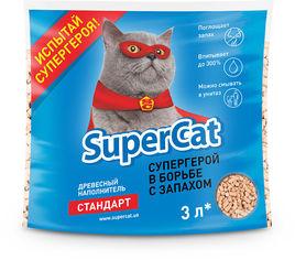 Наполнитель туалетов SuperCat для котов стандарт впитывающий 1 кг (3 л) от Stylus