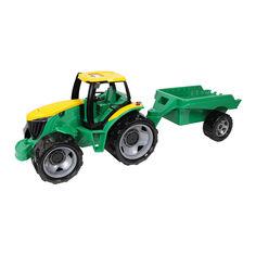 Акция на Машинка LENA Трактор с прицепом (2122) от Будинок іграшок
