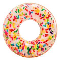 Акция на Круг надувной Intex Пончик с присыпкой 114 см (56263NP) от Будинок іграшок