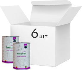Упаковка влажного корма для собак Baskerville Super Premium Kalb Mit Brombeeren Телятина и ежевика 800 г 6 шт (4250231541919-6) от Rozetka