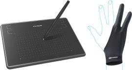 Графический планшет Huion Inspiroy H430P с перчаткой от Rozetka