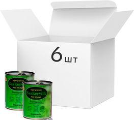 Акция на Упаковка влажного корма для собак Baskerville Баранина с картофелем и тыквой, 6 банок по 800 г (4250231596728-6) от Rozetka