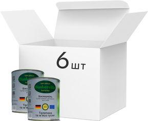 Упаковка влажного корма для собак Baskerville Телятина и мясо гуся, 6 банок по 800 г (4250231598401-6) от Rozetka
