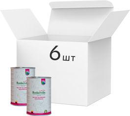 Упаковка влажного корма для собак Baskerville Sensitive Wild Mit Blaubeeren und Spirulina Оленина с черникой и спирулиной 400 г 6 шт (4250231541810-6) от Rozetka