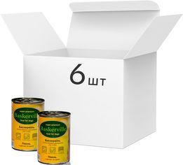 Упаковка влажного корма для собак Baskerville Петух с рисом и цуккини, 6 банок по 400 г (4250231533501-6) от Rozetka