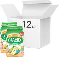 Упаковка фруктового пюре Маленькое счастье Фруктовый салатик с 6 месяцев 180 г х 12 шт (4823163001038) от Rozetka