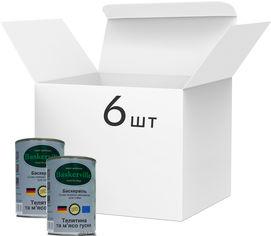 Упаковка влажного корма для собак Baskerville Телятина и мясо гуся, 6 банок по 400 г (4250231598395-6) от Rozetka