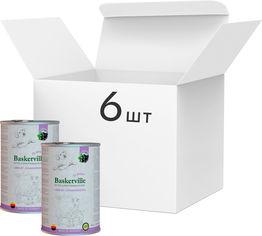 Упаковка влажного корма для собак Baskerville Super Premium Lamm Mit Johannisbeeren Ягненок и смородина 800 г 6 шт (4250231541902-6) от Rozetka
