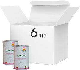 Упаковка влажного корма для собак Baskerville Holistic Wildschwein und Ente Mit Kurbis Кабан и утка с тыквой 800 г 6 шт (4250231541872-6) от Rozetka