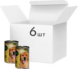 Упаковка влажного корма для собак Baskerville Кролик с вермишелью и морковью, 6 банок по 400 г (4250231533525-6) от Rozetka