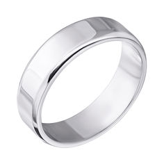 Серебряное обручальное кольцо 000043138 000043138 22.5 размера от Zlato