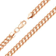 Браслет из красного золота в плетении королевский бисмарк с алмазной гранью 000103644 000103644 18.5 размера от Zlato