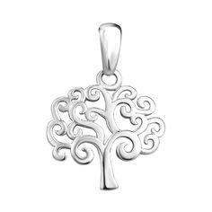 Серебряный кулон Деревце с ветвями в форме сердечек 000106937 от Zlato