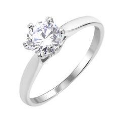 Серебряное кольцо с кристаллом циркония 000112675 000112675 16 размера от Zlato