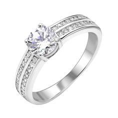 Серебряное кольцо с фианитами 000112676 000112676 16.5 размера от Zlato