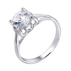 Серебряное кольцо с фианитом 000116353 000116353 17 размера от Zlato