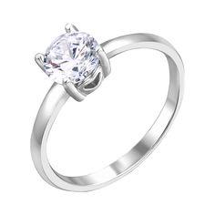 Серебряное кольцо Полет любви с сердечками на касте и белым фианитом 000116359 17 размера от Zlato