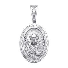 Серебряная ладанка Святой Николай 000117902 000117902 от Zlato