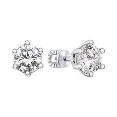 Серебряные серьги-пуссеты с цирконием 000123341 000123341 от Zlato