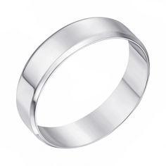 Серебряное обручальноекольцо  000129295 000129295 17.5 размера от Zlato