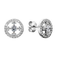 Серебряные серьги с фианитами 000137320 000137320 от Zlato