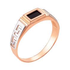 Перстень-печатка из красного золота с черным ониксом 000004101 000004101 20 размера от Zlato